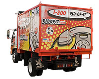 1-800-ridofit Vancouver junk removal truck